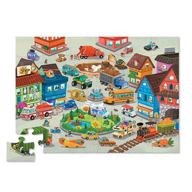 Busy City puzzel – 36 stukken | Crocodile Creek
