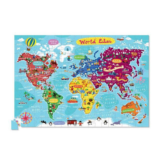 Puzzel & Poster Wereldsteden – 200 stukken   Crocodile Creek