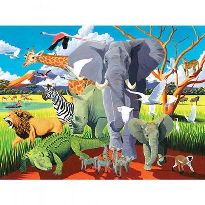 Wilde Safari Puzzel – 500 stukken  | Crocodile Creek