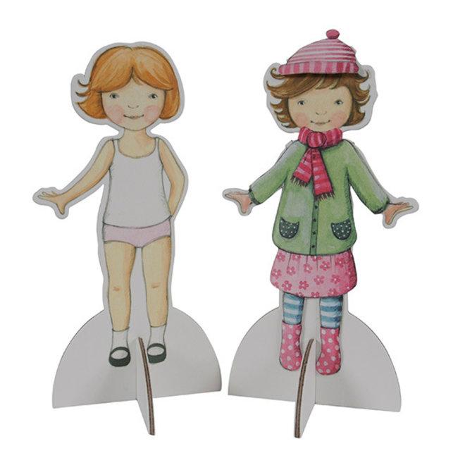 Teken en Knutselset Paper Dolls Vintage | Tiger Tribe