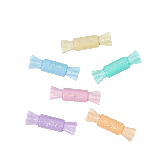 Tweezijdige pastelkleurige stiften – snoepvorm | Tiger Tribe