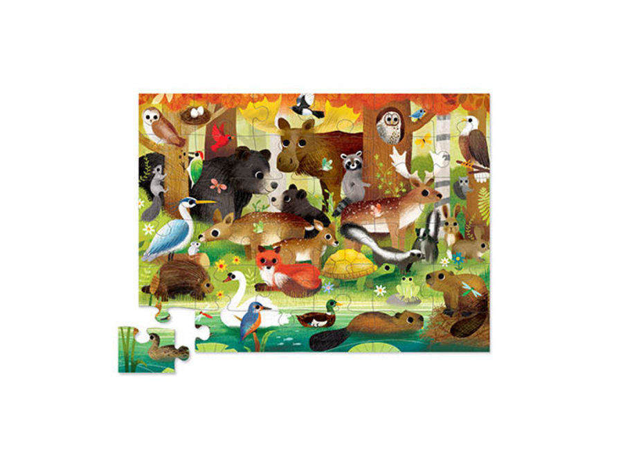 Bosvriendjes Puzzel – 36 stukken    Crocodile Creek