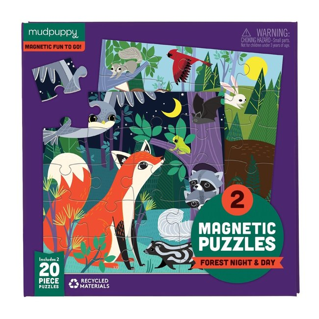 Magnetic Fun Puzzel Forest night & day   Mudpuppy