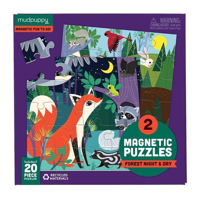 Mudpuppy Magnetic Fun Puzzel Forest night & day   Mudpuppy