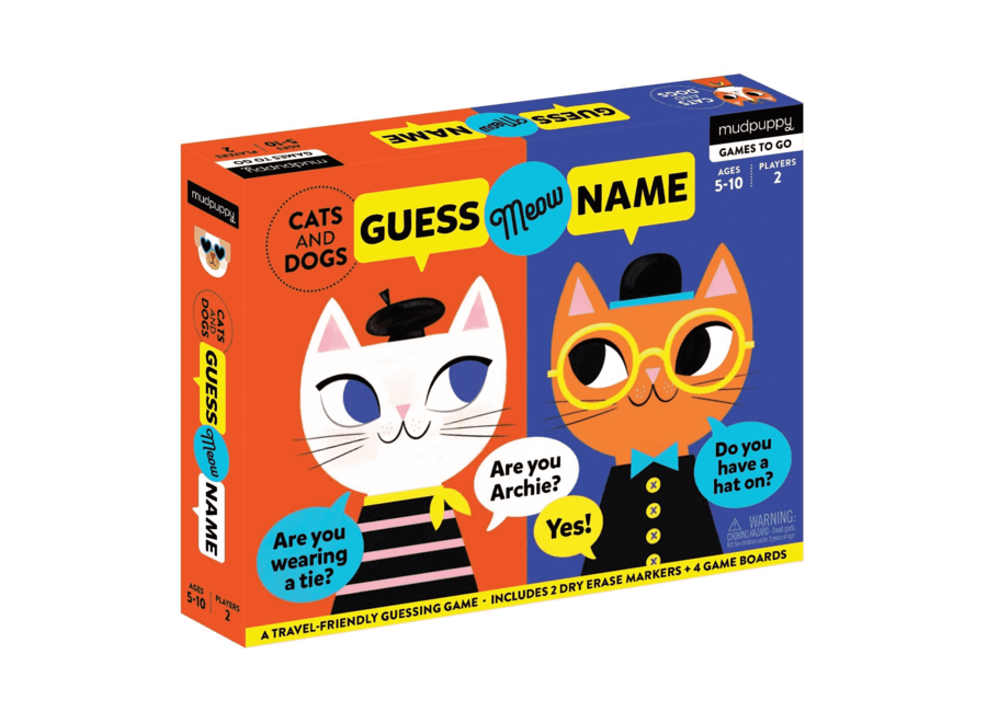 Wie is het? Guess meow Name | Mudpuppy