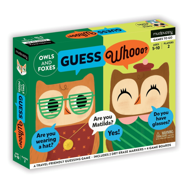 Guess Whooo – Uilen & Vossen | Mudpuppy