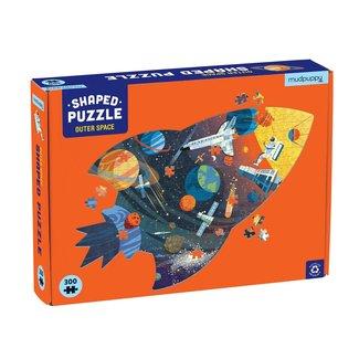 Mudpuppy Shaped Puzzel Outer Space – 300st | Mudpuppy