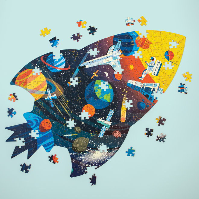 Shaped Puzzel Outer Space – 300st   Mudpuppy