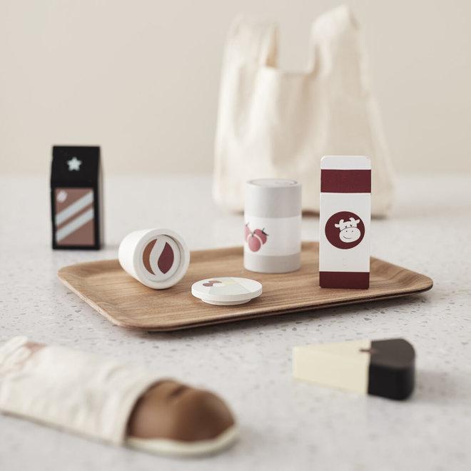 Set boodschappen in hout + tas | Kid's Concept