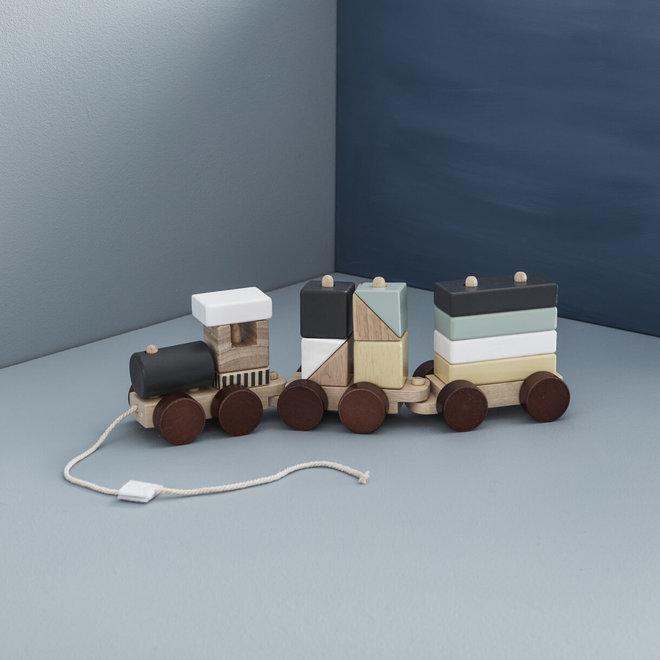 Trein met blokken naturel | Kid's Concept