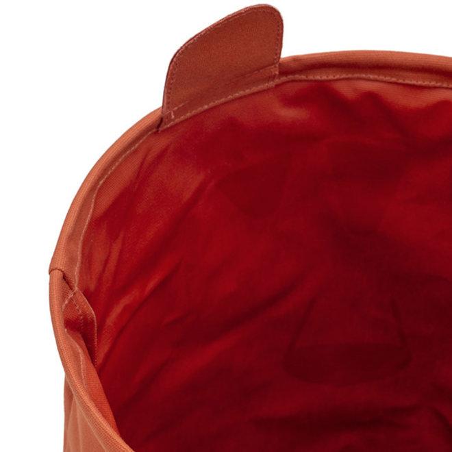 Opbergmand Canvas Animal CLub Roest | Jollein