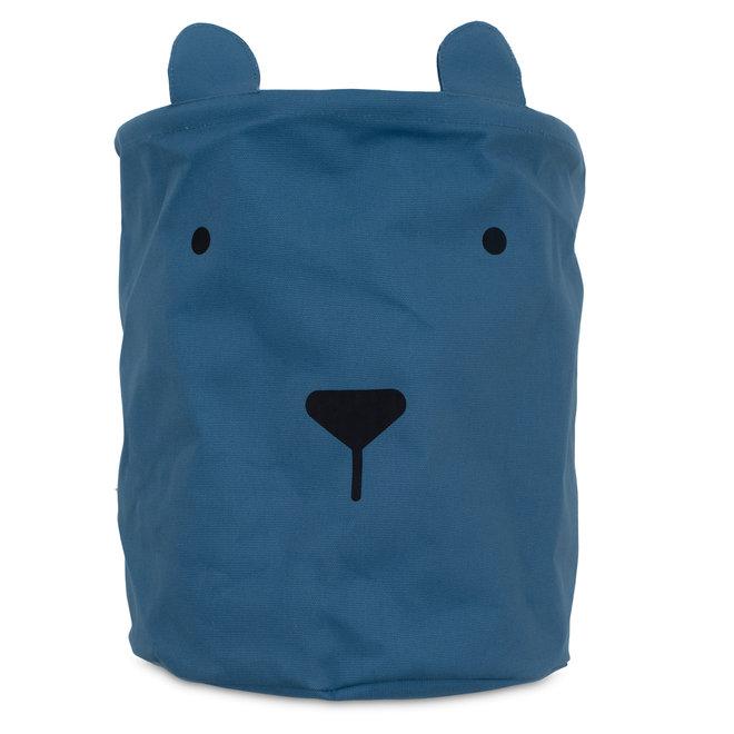Opbergmand Canvas Animal CLub Blauw | Jollein