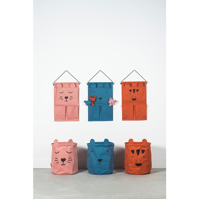 Opbergmand Canvas Animal CLub Roze | Jollein