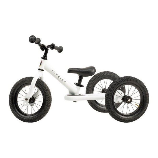 Trybike Steel 2-1 loopfiets White | Trybike