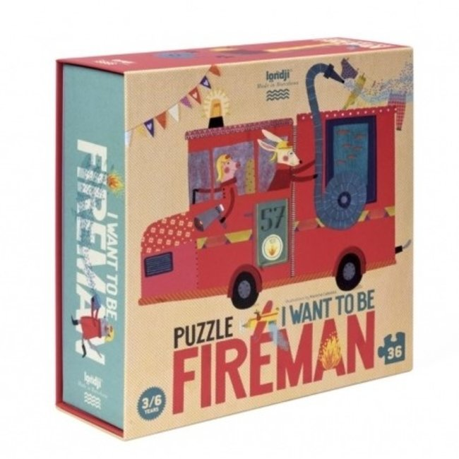 I want to be... Fireman Puzzle (36st)   Londji
