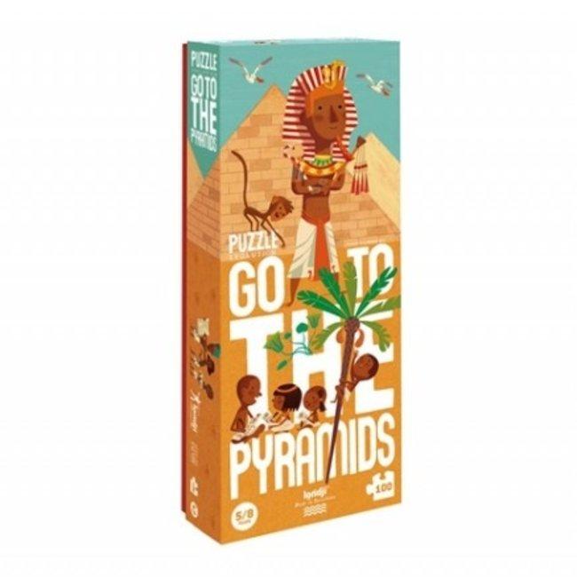 Londji Go to the pyramids Puzzel (100st) | Londji