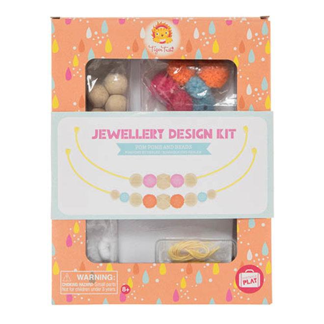 Juwelen Design Kit – Pom Pom & Kralen | Tiger Tribe