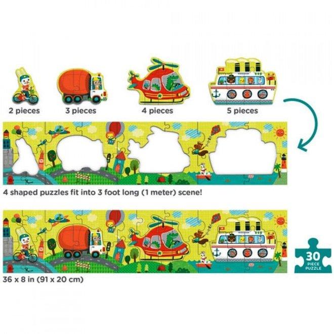 My very long puzzel Transportation - 30st | Mudpuppy