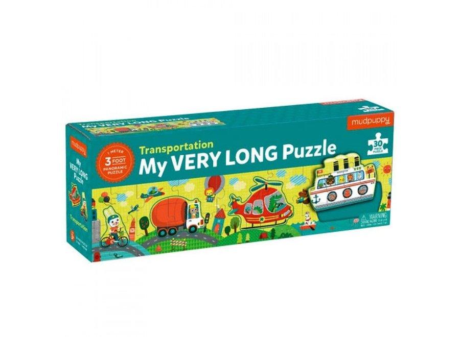 My very long puzzel Transportation - 30st   Mudpuppy