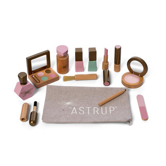 Astrup Houten Make-up Set met toilettas | By Astrup