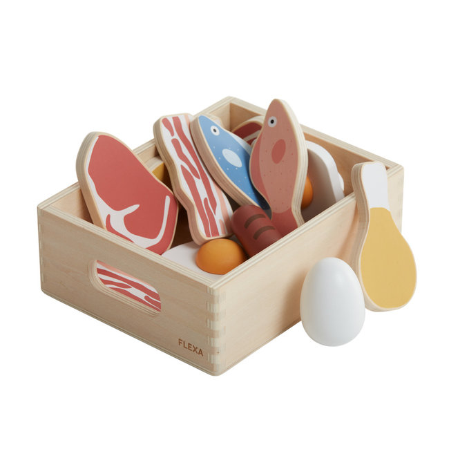 Vis & Vlees houten set | Flexa