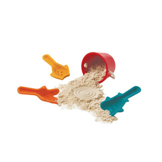 Plan Toys Strandset: Emmer +  3 Schepjes | Plan Toys