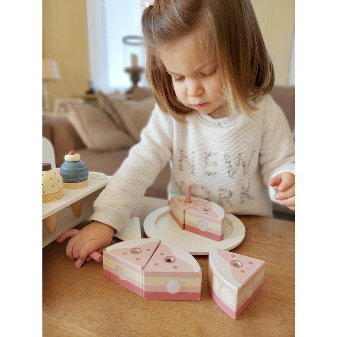 Houten Verjaardagstaart Roze| Kid's Concept