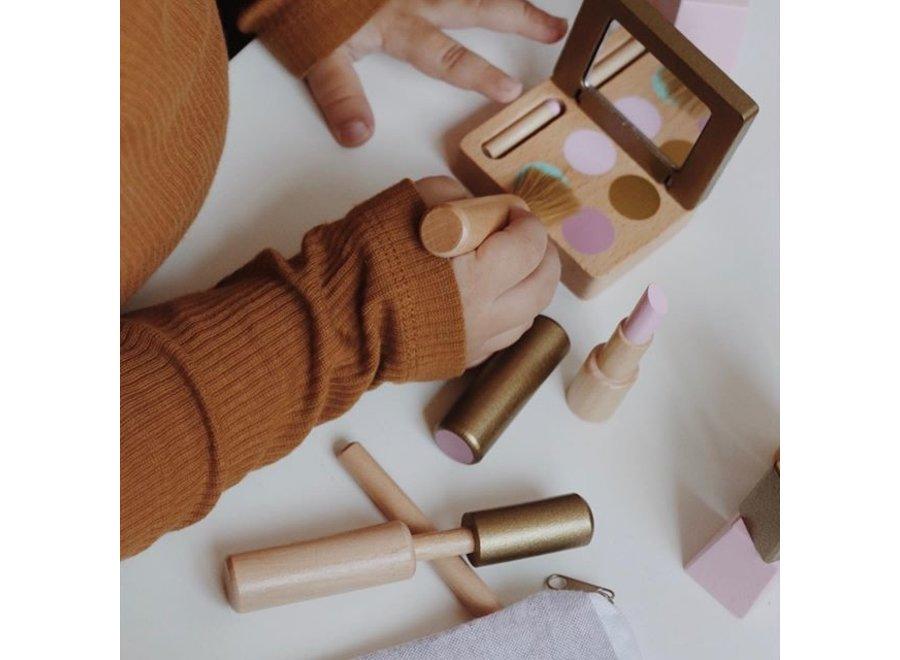 Houten Make-up Set met toilettas | By Astrup