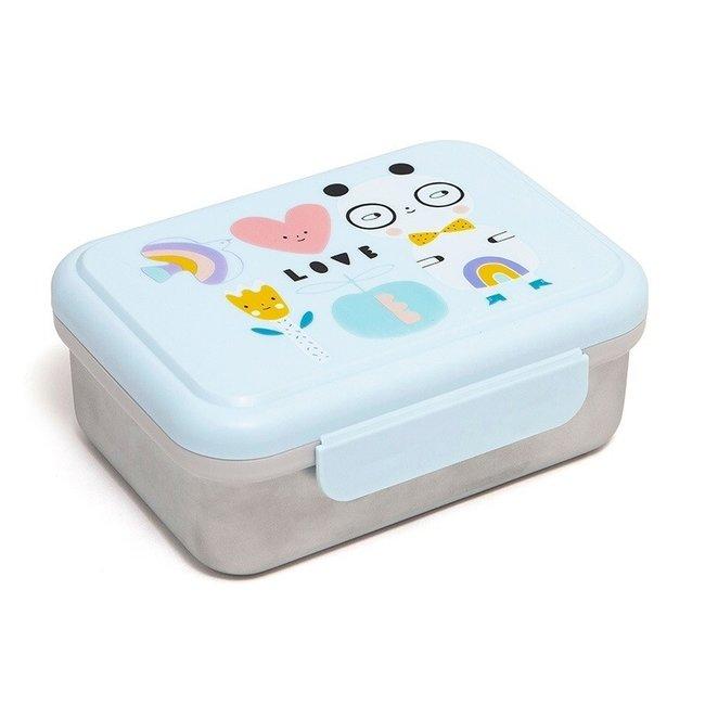 Lunchbox Panda Love - Stainless Steel | Petit Monkey