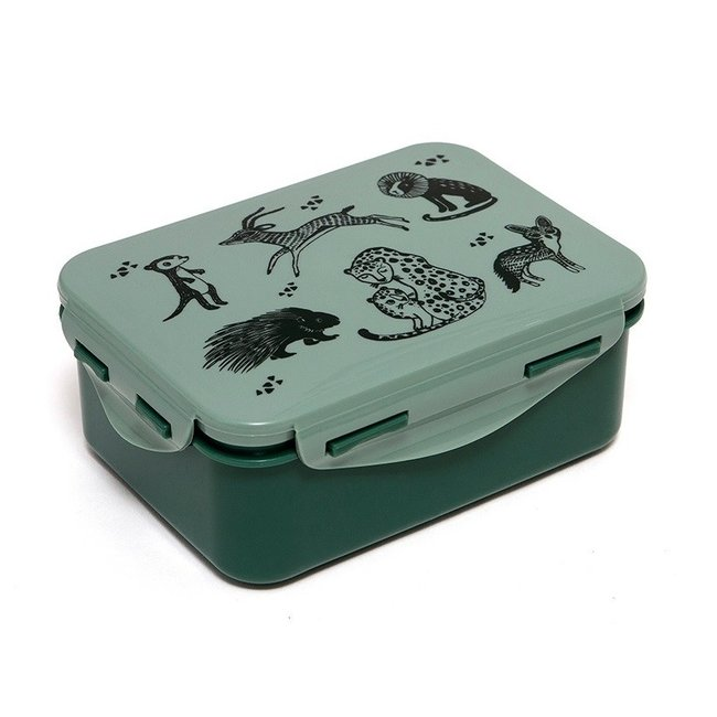 Petit Monkey Lunchbox Black Animals - Salie | Petit Monkey