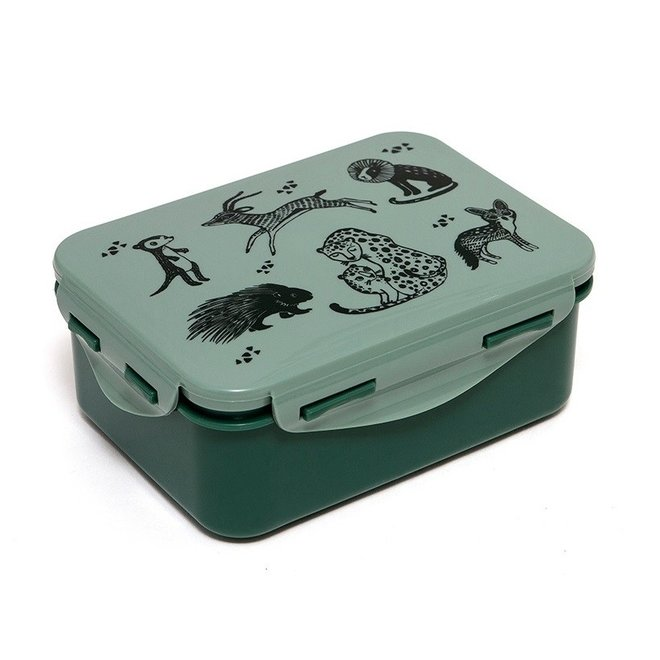 Lunchbox Black Animals - Salie | Petit Monkey