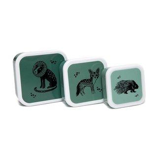 Petit Monkey Lunchbox Black Animals - Set van 3 | Petit Monkey