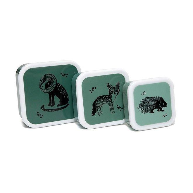 Lunchbox Black Animals - Set van 3 | Petit Monkey