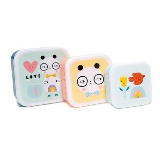 Petit Monkey Lunchbox Panda Love - Set van 3 | Petit Monkey