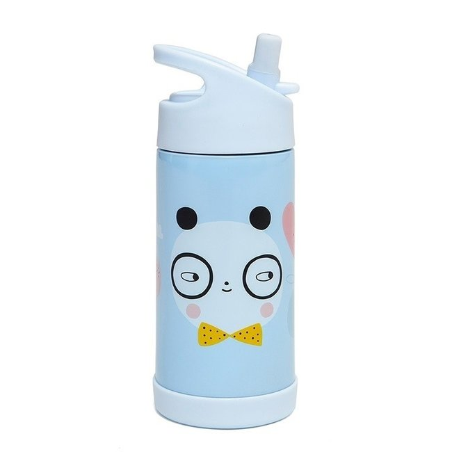 Petit Monkey Drinkfles Stainless Steel - Panda Love | Petit Monkey