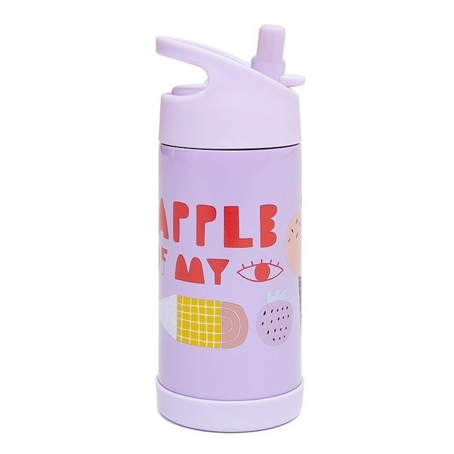Drinkfles Stainless Steel - Apple of my eye   Petit Monkey