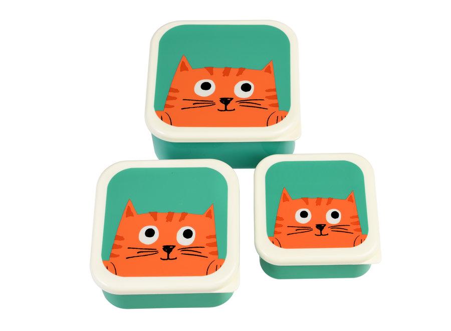 Snackdoosjes Chester the Cat - Set van 3 | Rex
