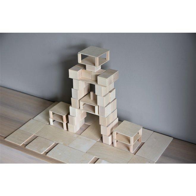 Just Blocks Houten Blokken Small Pack (74 stuks)
