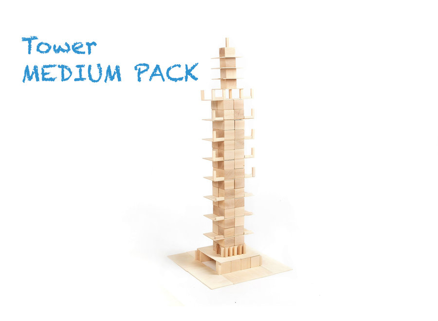 Just Blocks Houten Blokken Medium Pack (166 stuks)
