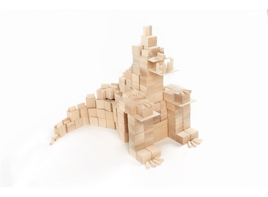 Just Blocks Houten Blokken Big Pack (336 stuks)