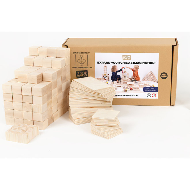 Just Blocks Houten Blokken Big Pack (336 stuks)