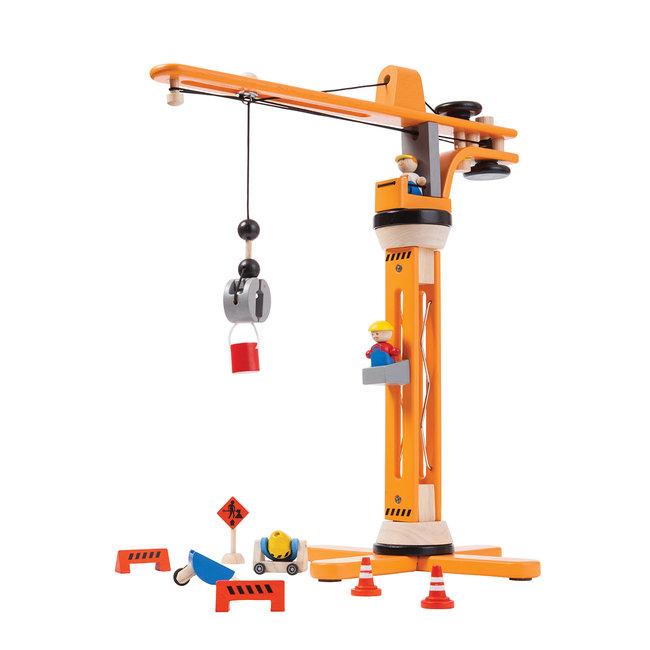Houten Kraan set   Plan Toys
