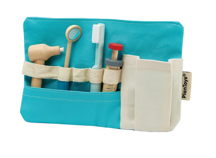 Houten tandarts set   Plan Toys