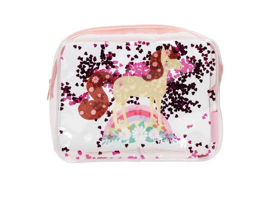 Toilettas: glitter-paard   A little lovely company