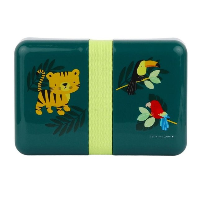 A Little Lovely Company Lunchbox Jungle Tijger | A little lovely company