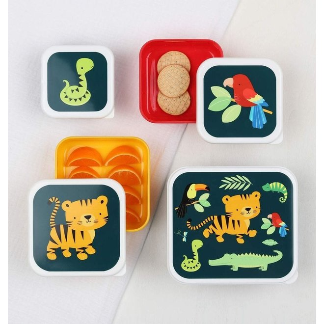 Lunch & Snackbox set: Jungle Tijger | A little lovely company