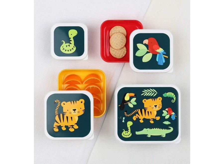 Lunch & Snackbox set: Jungle Tijger | A little lovely company