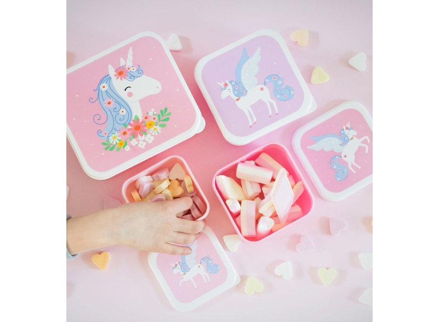 Lunch & Snackbox set: Unicorn | A little lovely company