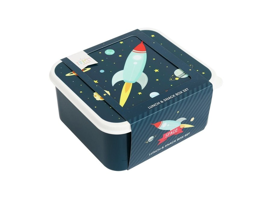 Lunch & Snackbox set: Ruimte | A little lovely company