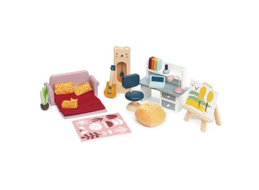 Meubeltjes Studeerkamer – Poppenhuis | Tender Leaf Toys